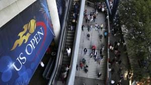 FILE - In this Sept. 3, 2017, file photo, tennis fans move in and out of Arthur Ashe Stadium during the fourth round of the U.S. Open tennis tournament in New York.(AP)
