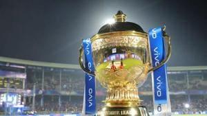 The Indian Premier League trophy.(Twitter/BCCI)