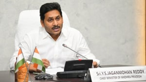 Andhra Pradesh Chief Minister Jagan Mohan Reddy during a video conference of chief ministers with Prime Minister Narendra Modi.(https://twitter.com/AndhraPradeshCM)