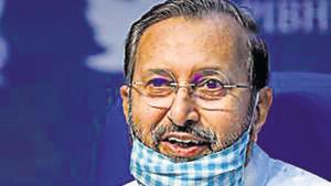 """Prakash Javadekar was responding to Congress leader Rahul Gandhi, who on Sunday said the draft environment impact assessment notification of 2020 is """"not only disgraceful, it is dangerous.""""(PTI)"""
