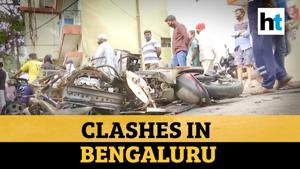 Watch: 3 killed as mob goes on rampage in Bengaluru over derogatory FB post