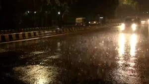 Delhi had a rain deficiency of 35% as on Wednesday which is likely to improve substantially on Thursday when Wednesday evening's rain is accounted for.(ANI/Twitter)