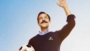 Ted Lasso review: Jason Sudeikis in a still from the new Apple TV+ show.