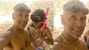 Milind Soman-Ankita Konwar are every newlywed couple ever as they sport gold jewellery in throwback honeymoon pic