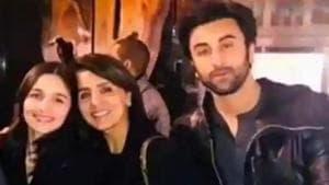 Ali Bhatt with Neetu Kapoor and boyfriend Ranbir Kapoor.
