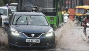 Delhi's Safdarjung station recorded the highest rain for August in 24 hours since 2013 on Wednesday evening and Thursday night.(Sanchit Khanna/HT PHOTO)