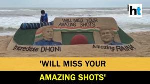 Watch: Sand artist pays tribute to 'Incredible Dhoni' and 'Amazing Raina'