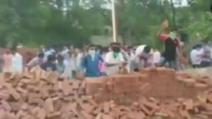 The wall around Visva Bharati that was demolished on Monday.(ANI)