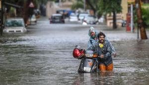 Between 8.30 am and 10.30 am Tuesday, south Mumbai recorded 0.5 mm of rain and the suburbs recorded 6.6 mm.(PTI)