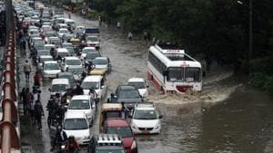 The police further said that waterlogging was also reported in Rani Jhansi Road, MB Road and Lal Kuan.(ANI)