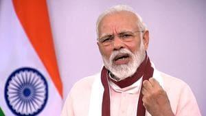 New Delhi, May 12 (ANI): Prime Minister Narendra Modi addresses the nation, in New Delhi on Tuesday. (ANI Photo)(ANI)