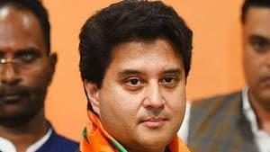 File photo: Senior Bharatiya Janata Party leader Jyotiraditya Scindia.(Raj K Raj/HT PHOTO)