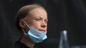 Greta Thunberg did not say in which city or school she would be continuing her studies.(Bloomberg)