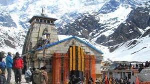 File photo: Kedarnath shrine in Rudraprayag district.(Vinay Santosh Kumar/HT)