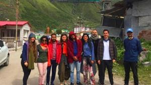 They have been living in Rishikesh for the past six months and went for the pilgrimage with the help of a travel company. (Ajay Lal/ HT Photo )