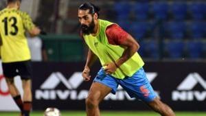 Sandesh Jhingan during practice.(AIFF Image)