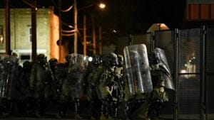"""When police ordered protesters to disperse, the crowd responded by chanting """"Black lives matter."""" Police then fired rubber bullets.(Reuters Photo)"""