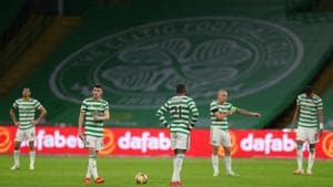 Celtic's Ryan Christie during the match, as play resumes behind closed doors following the outbreak of the coronavirus disease(REUTERS)