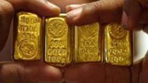 The precious metal had closed at Rs 52,173 per 10 gram in the previous trade.(Reuters image)