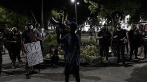 The shooting of Blake Sunday night reignited protests in several US cities over the police killings of Black men.(AP Photo)