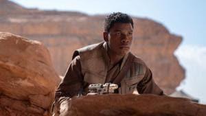 John Boyega as Finn in Star Wars.