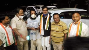 """Kafeel Khan claimed that he and his family had to face many hardships as the state government was """"after"""" him because of the oxygen issue in BRD Medical College.(UP Congress/Twitter)"""