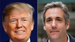This file combination photo shows President Donald Trump and attorney Michael Cohen.(AP)