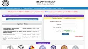JEE Advanced 2020 registration begins