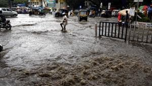 From September 13-14 – the city will receive moderate showers, while isolated heavy rain is expected in the ghat areas.(Rahul Raut/HT PHOTO)