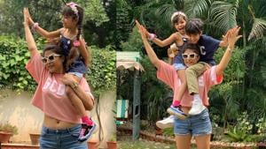 Tahira Kashyap has shared fresh pictures with her kids on Instagram.