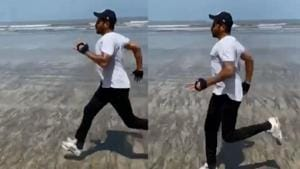 Anil Kapoor runs on a beach in a new video.