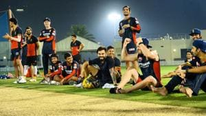 The RCB players seemed to be having a ball.(Image Courtesy: RCB/Twitter)