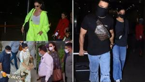 Return of airport looks: Check out Kangana, Ranveer, Deepika and others style game here(Twitter/ANI/risroysalyan/DeepikaPFC/bollywood_b)