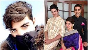 Aarav with his famous parents, Akshay Kumar and Twinkle Khanna.