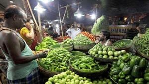 It was at minus 0.58 per cent in July, said a statement issued by the Ministry of Commerce and Industry.