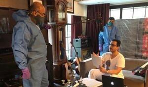 Saif Ali Khan dubbing for the Amazon Prime Video series Dilli.