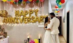 Charu Asopa and Rajeev Sen celebrate their first wedding anniversary.