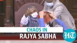 Watch: Chaos in Rajya Sabha as Opposition MPs protest; govt slams 'thuggery'