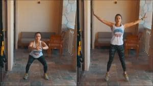 Preity Zinta shares how she 'kept sane during quarantine' in latest fitness video from Dubai(Instagram/realpz)