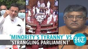 'Strangling' vs 'shaming' Parliament: Govt, Congress clash on RS uproar, penalty
