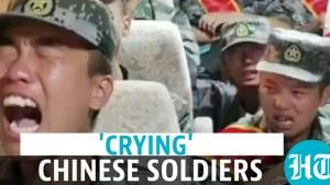 Watch: Chinese soldiers 'cry' on way to India border; Taiwan media mocks