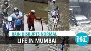 Mumbai rain: Train services & traffic affected; water enters Covid hospital