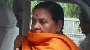 The BJP leader took to Twitter and informed that she had been shifted to AIIMS on Monday morning from Vande Mataram Kunj in Pauri Garhwal district.(ANI PHOTO.)