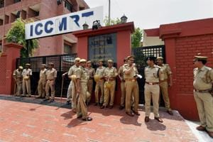 Heavy security deployment has been made outside special CBI court where the verdict in Babri Masjid demolition case will be delivered on Wednesday.(PTI FIle)