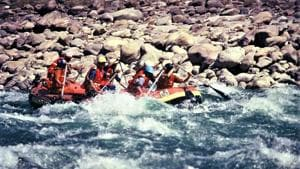 Adventure tourism activities like Bungee jumping, rafting other adventure sports started in Uttarakhand's Rishikesh after 6 months.(Uttarakhand tourism department)