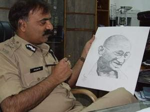 RK Vij confesses he's deeply influenced by Mahatma Gandhi's principles of truth and non-violence.(Photos: Twitter/ipsvijrk)