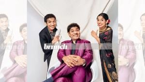 Johny Lever's kids- Jamie Lever, 32, and Jesse Lever 30, take their social media game very seriously and update their followers regularly. On Johny: Outfit and shoes, Masculine, Juhu; On Jesse: Shirt, TopShop; suit, HP Su Misura (Bandra); shoes, Aldo; On Jamie: Venkatagiri sari, from a local store in Andhra Pradesh(Prabhat Shetty)