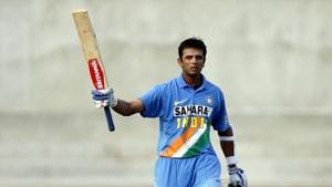 Rahul Dravid celebrates his century in the first one-day international cricket match between India and the West Indies in Kingston, Jamaica on May 18, 2006. Mainak Sinha,24, a UPSC aspirant from Kandi in Murshidabad, West Bengal, possesses one of the largest online cricket archives. He has footage from at least 7,500 international games, including the first one-day international cricket match ever played between Australia and England in 1971. (Arko Datta / REUTERS)