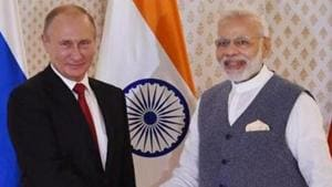 Prime Minister Narendra Modi spoke on the phone with President Vladimir Putin to convey his greetings to the Russian president on the occasion of his birthday. (Image used for representation).(PTI PHOTO.)