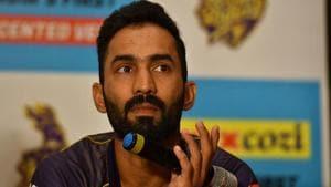 IPL 2020 KKR vs CSK: File image of captain Dinesh Karthik.(Getty Images)